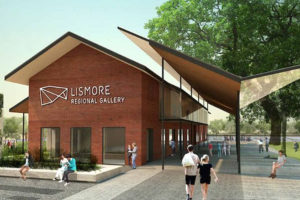Lismore Regional Gallery art plinths steel wood