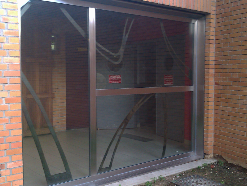 double glazed stainless steel window design. exterior view