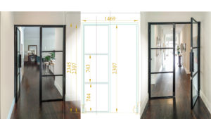 custom steel french doors