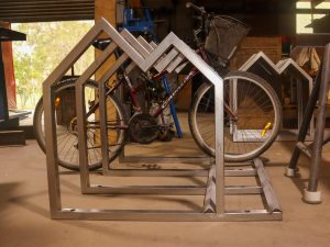 stainless steel bicycle stand